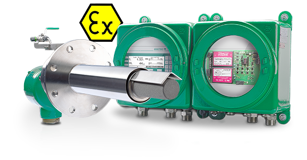 ATEX certified InSitu O2 and COe analyzer - COMTEC 600 GasEx